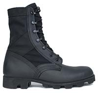 Hot Weather All Black Jungle Boot with Panama Outsole