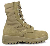 Hot Weather Coyote Ripple Sole Combat Boot