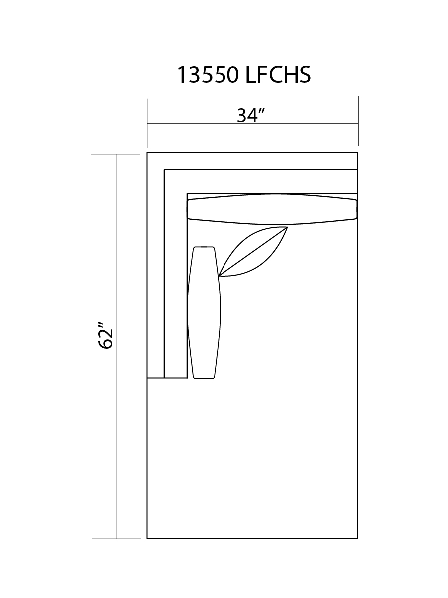 13550 L/F CHAISE