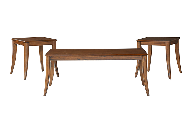 Golden Pecan Finish Table Set