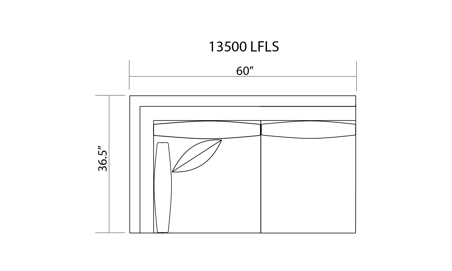 13500 L/F 1 ARM LOVESEAT