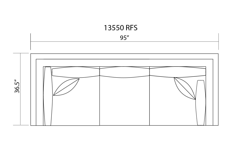 13550 R/F CORNER SOFA