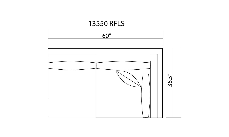 13550 R/F 1 ARM LOVESEAT