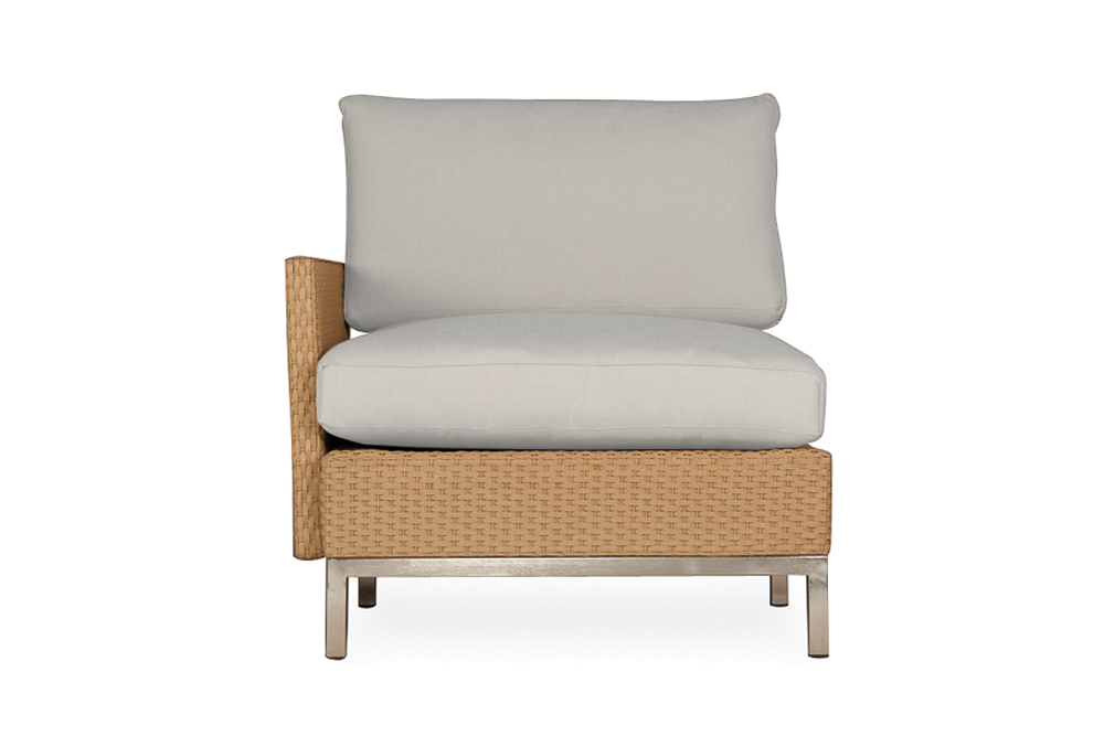 Elements Right Arm Lounge Chair with Loom Arms and Back