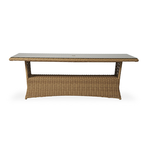 "Magnolia 84"" Rectangular Umbrella Dining Table"