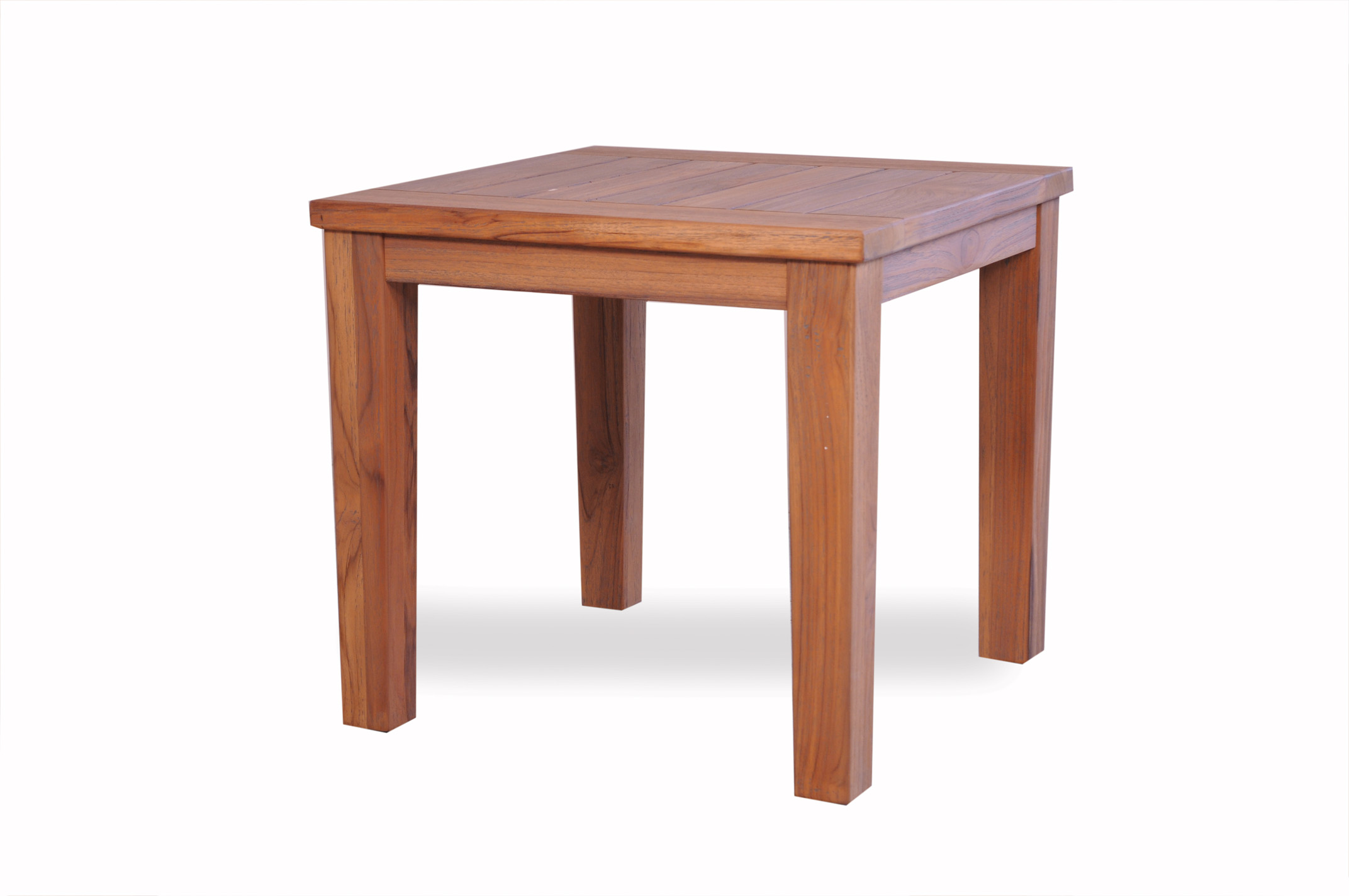 "Teak 24"" Square Tapered Leg End Table"