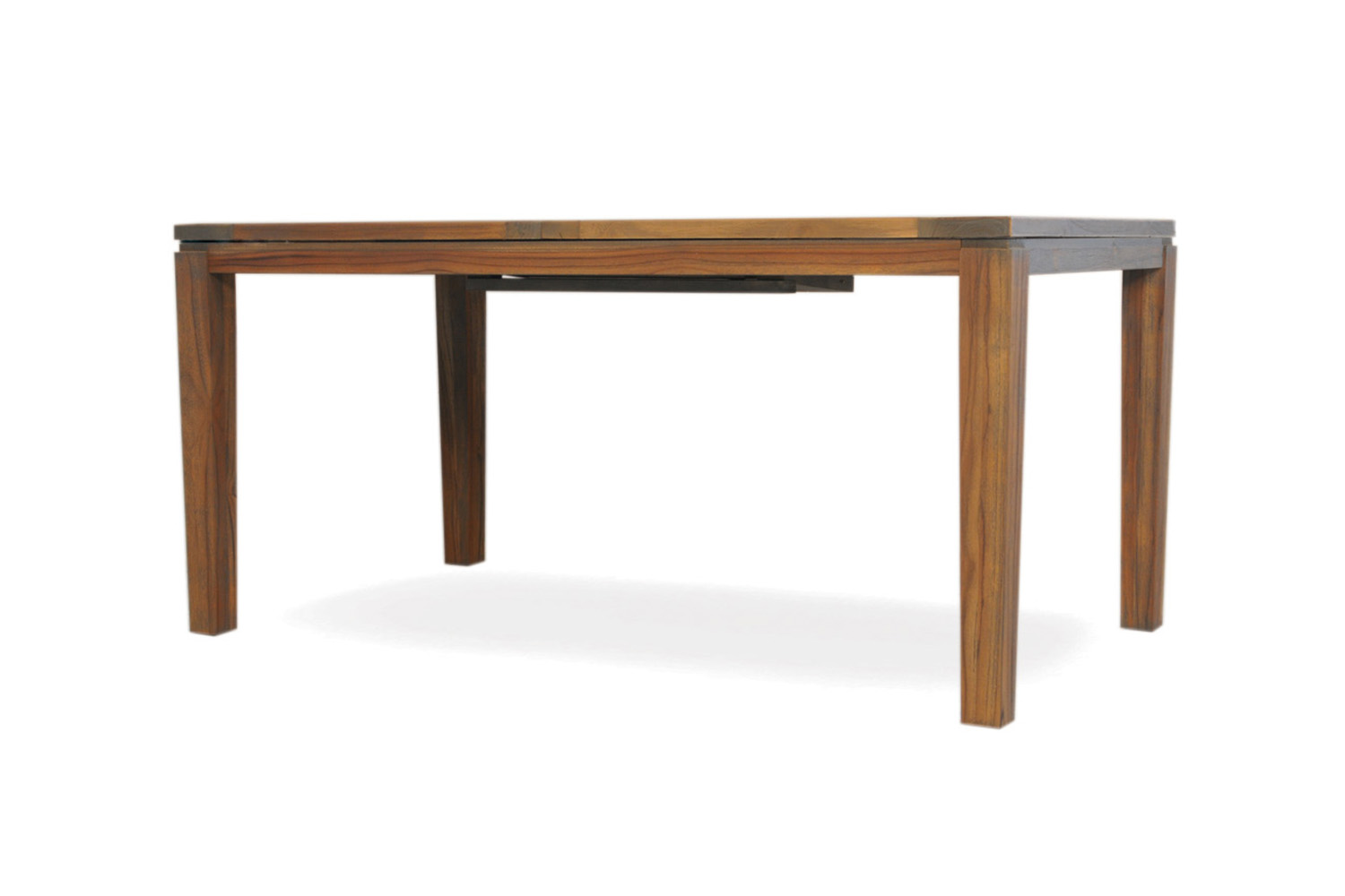 "Teak 63-84"" Butterfly Leaf Umbrella Dining Table"