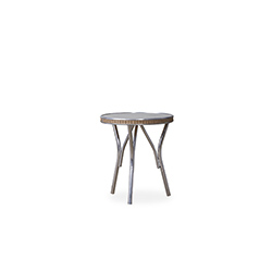 "All Seasons 18.75"" Round End Table with Taupe Glass"