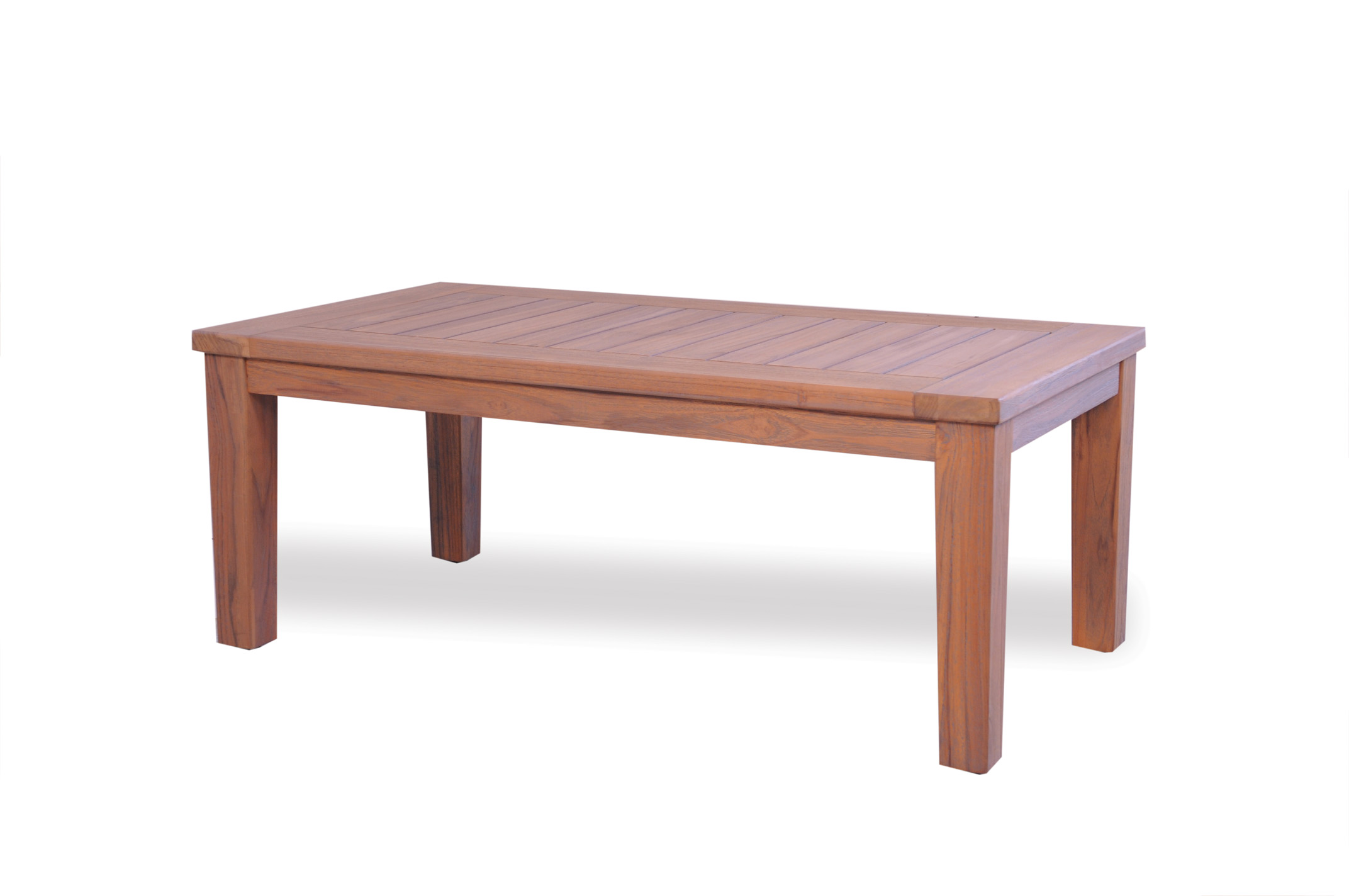 "Teak 45"" Rectangular Tapered Leg Cocktail Table"