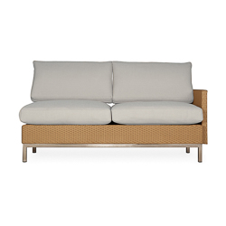 Elements Left Arm Settee with Loom Arm and Back