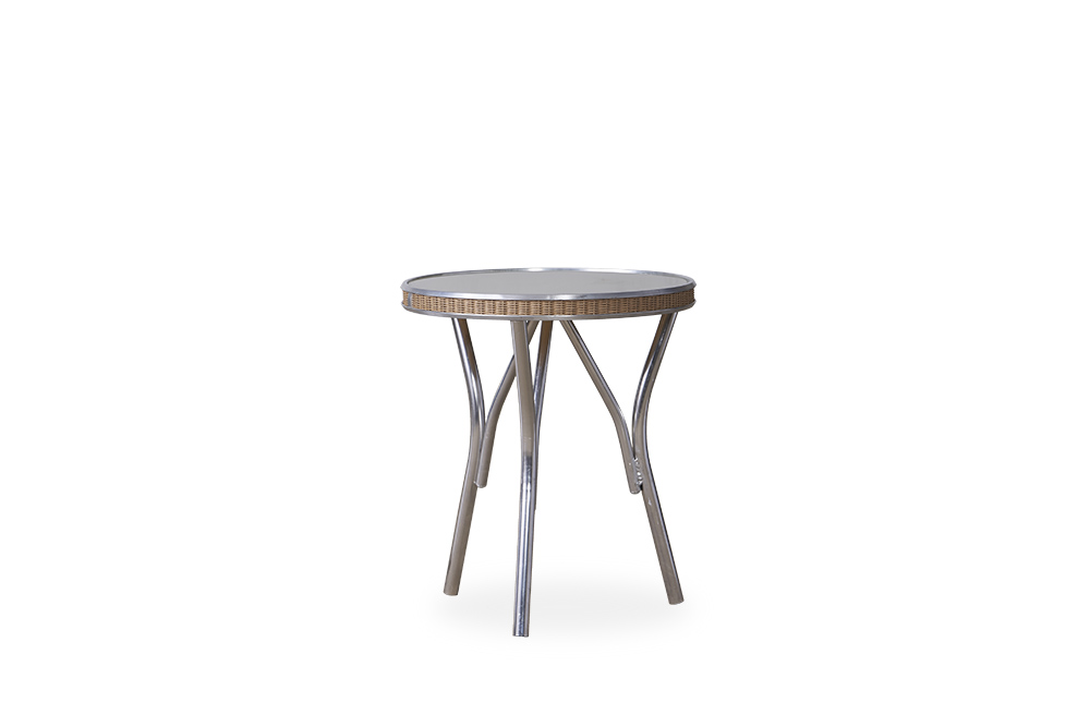 "All Seasons 19"" Round End Table with Taupe Glass"