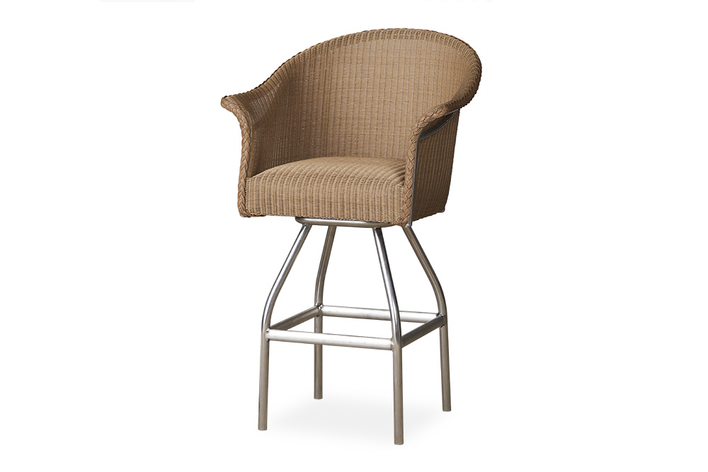 All Seasons Swivel Bar Stool with Padded Seat