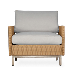 Elements Lounge Chair with Loom Arms and Back