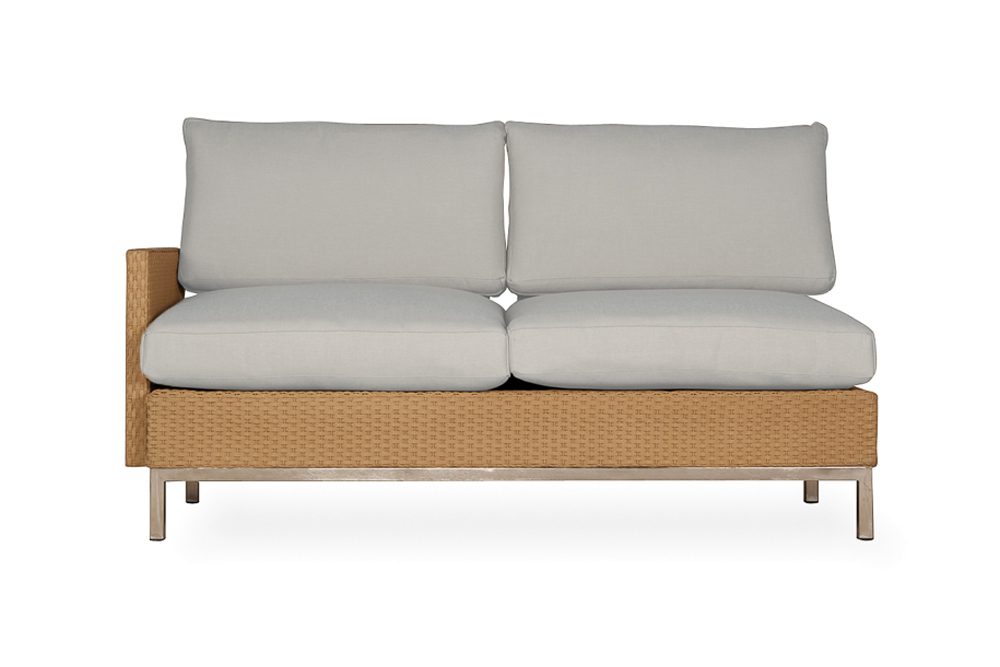 Elements Right Arm Settee with Loom Arm and Back