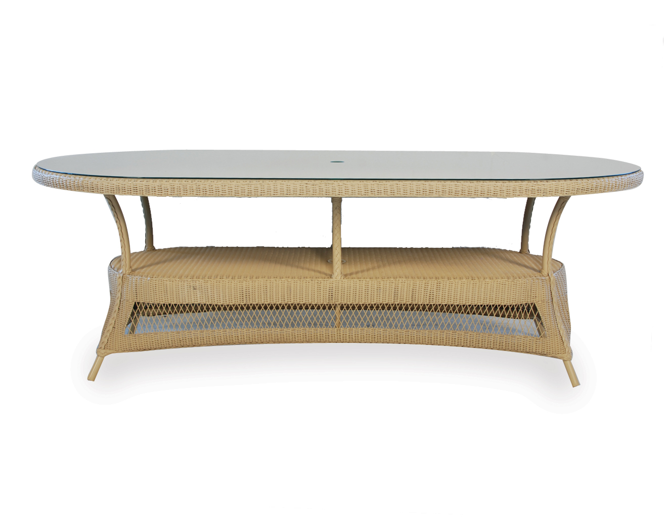 "Loom 84"" Oval Umbrella Dining Table"