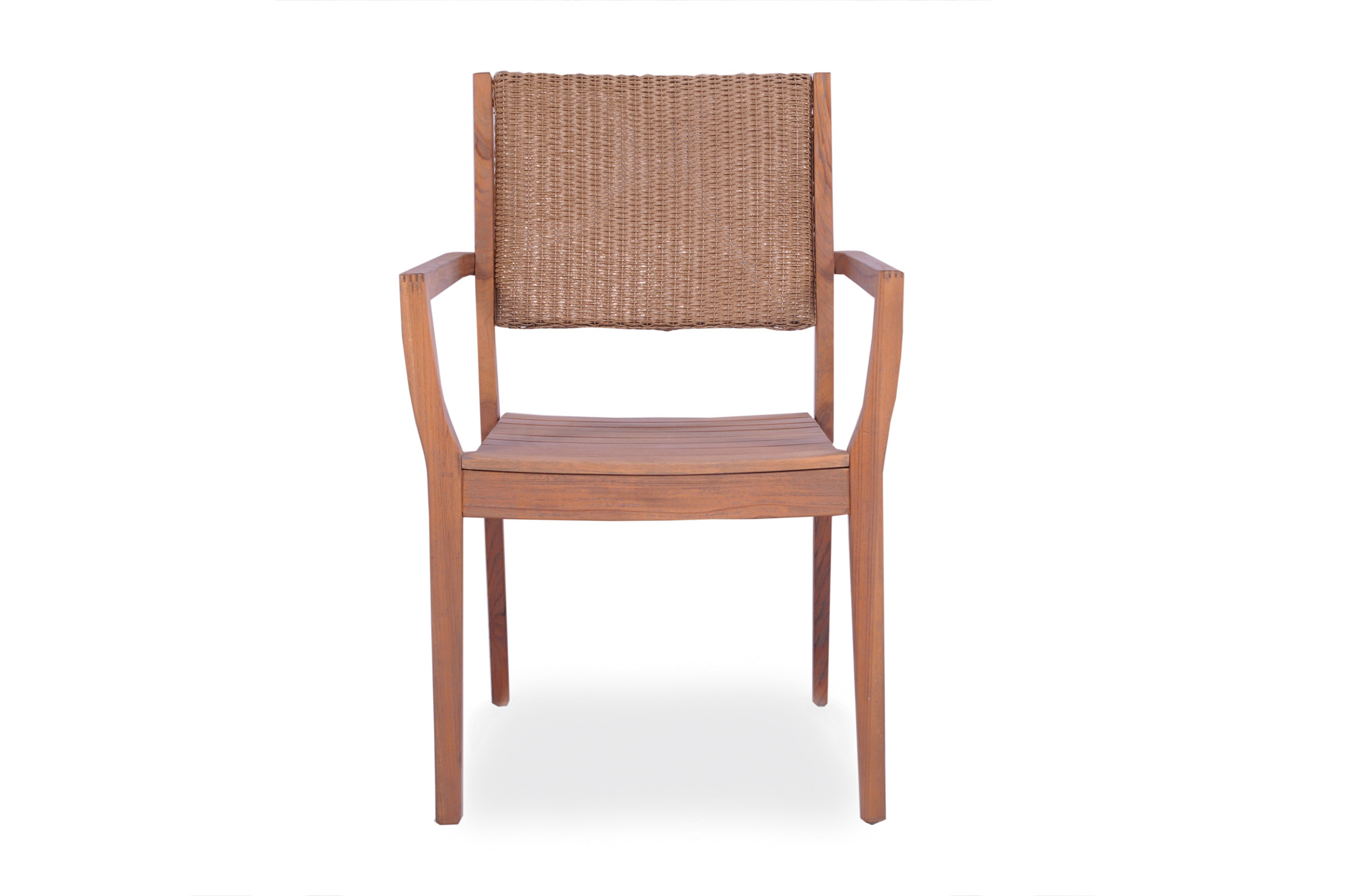 Loom Loom Back Teak Dining Armchair