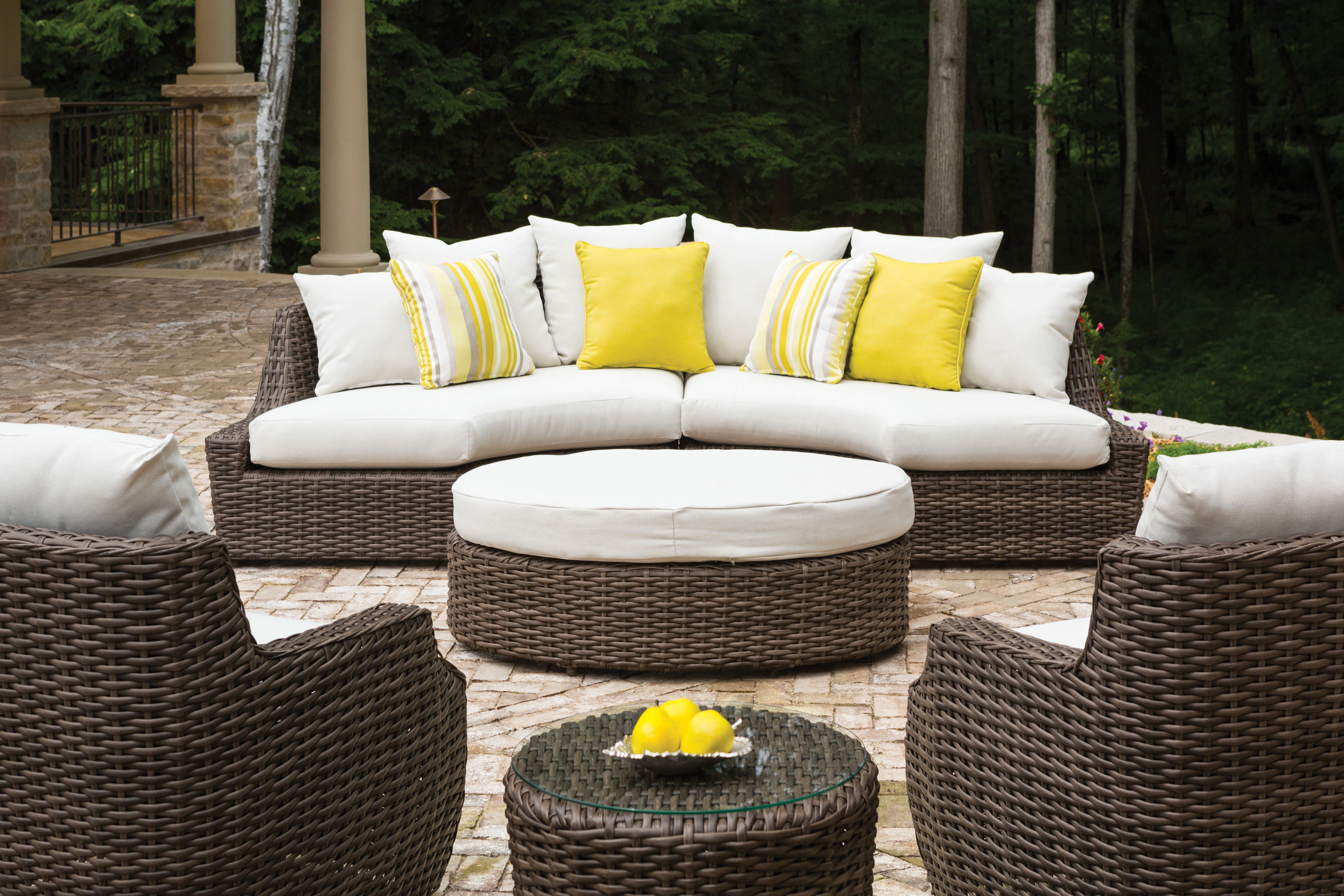 Largo Right Arm Curved Sofa Sectional