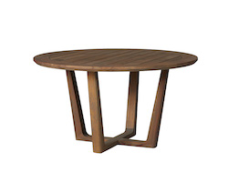 "Teak 54"" Round Sled Base Umbrella Table"