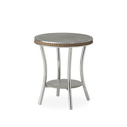 "Essence 20"" Round End Table with Taupe Glass"
