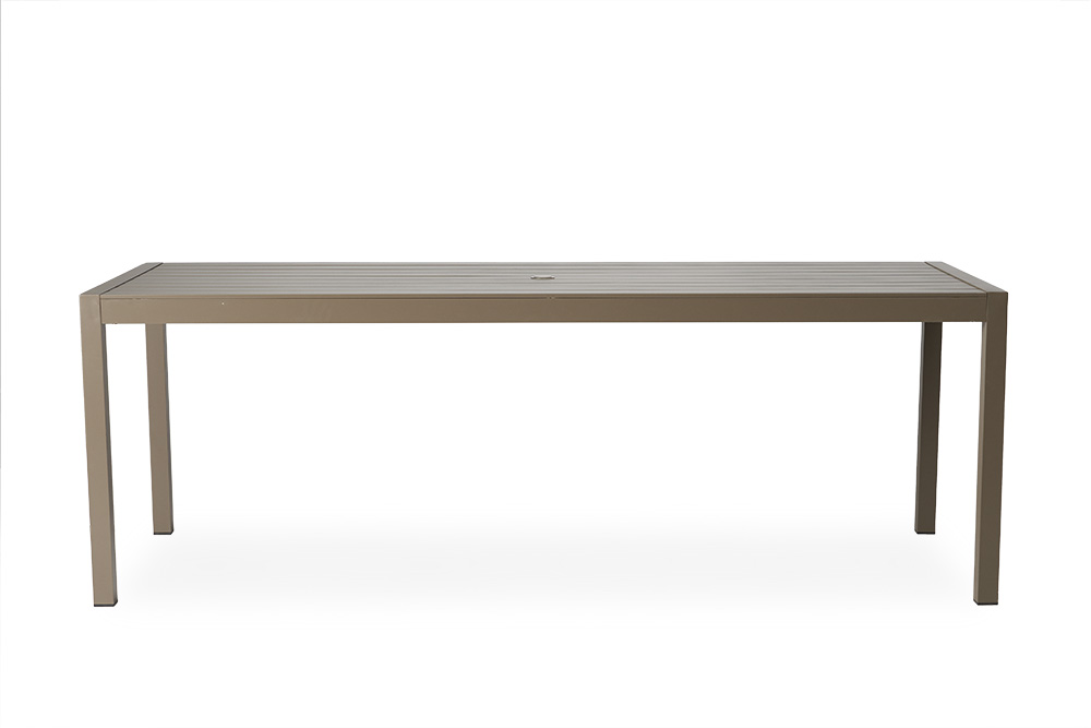 "Milan 86.75"" Rectangular Umbrella Dining Table"
