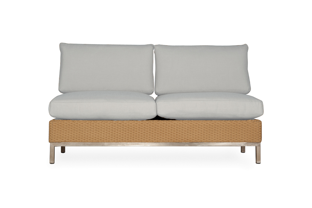 Elements Armless Settee with Loom Back