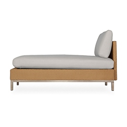 Elements Armless Chaise with Loom Back