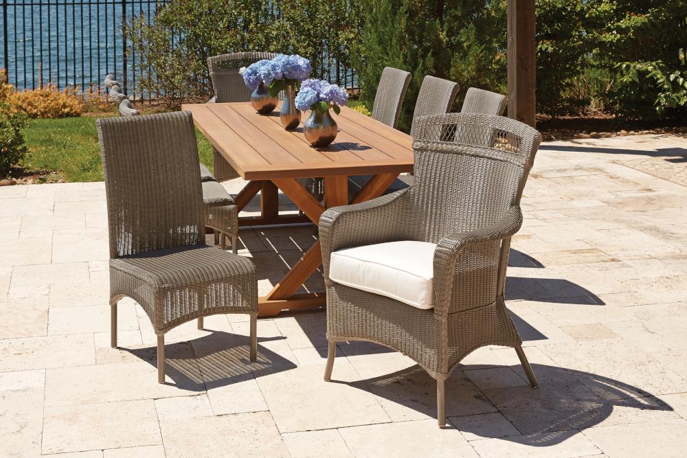 Loom High Back Armless Dining Chair