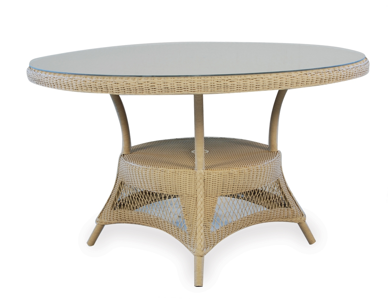 "Loom 48"" Round Umbrella Dining Table"