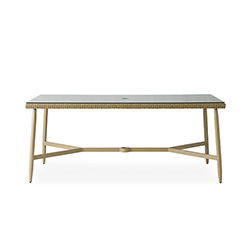 "Fairview 73"" Rectangular Umbrella Dining Table"
