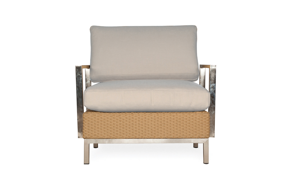 Elements Lounge Chair with Stainless Steel Arms and Back