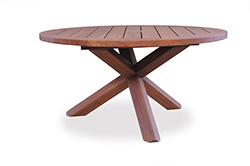 "Teak 48"" Cross Base Chat Table"