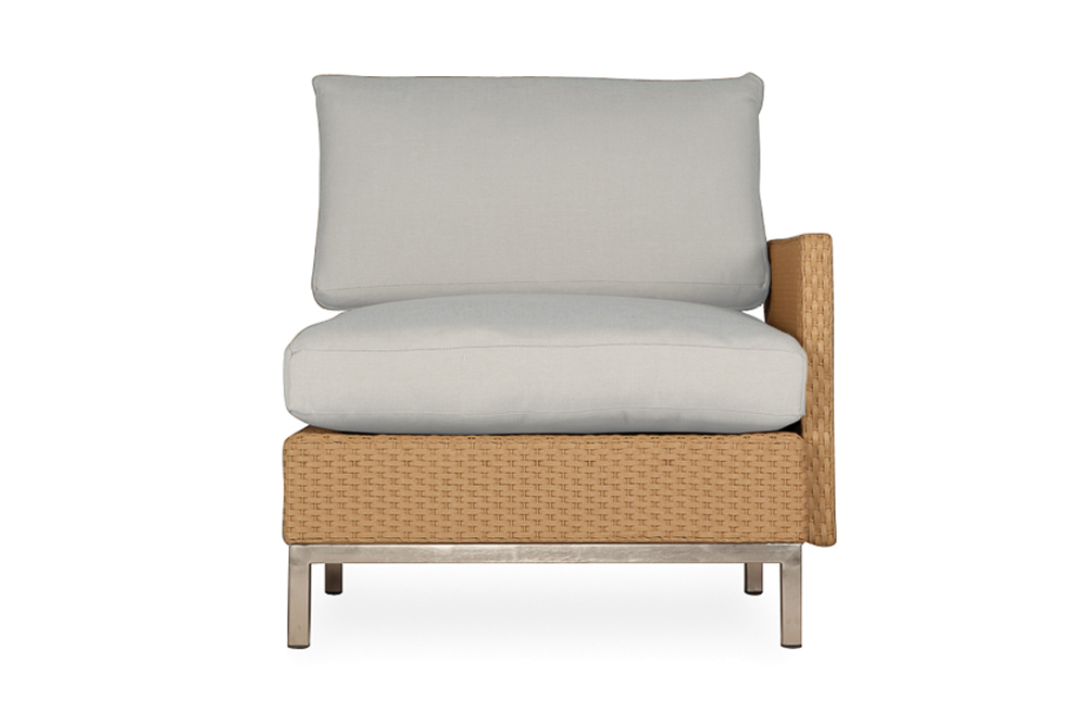 Elements Left Arm Lounge Chair with Loom Arm and Back