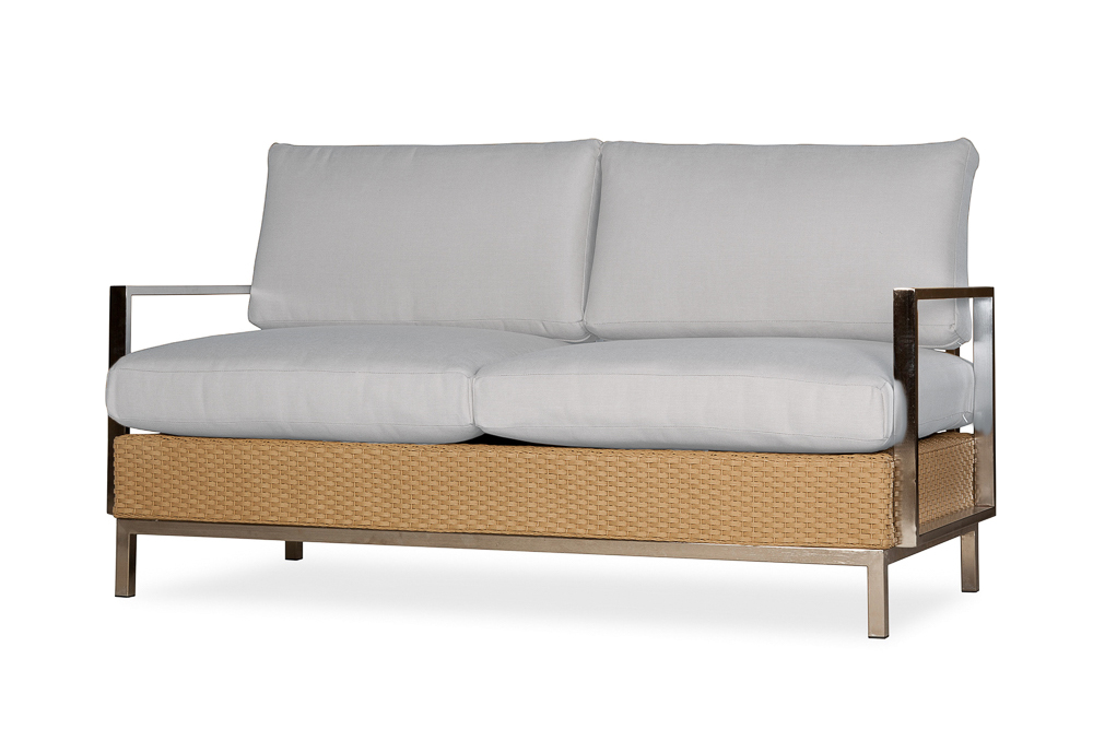 Elements Settee with Stainless Steel Arms and Back
