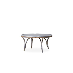"All Seasons 33"" Round Cocktail Table with Taupe Glass"