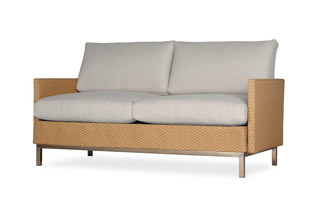 Elements Settee with Loom Arms and Back