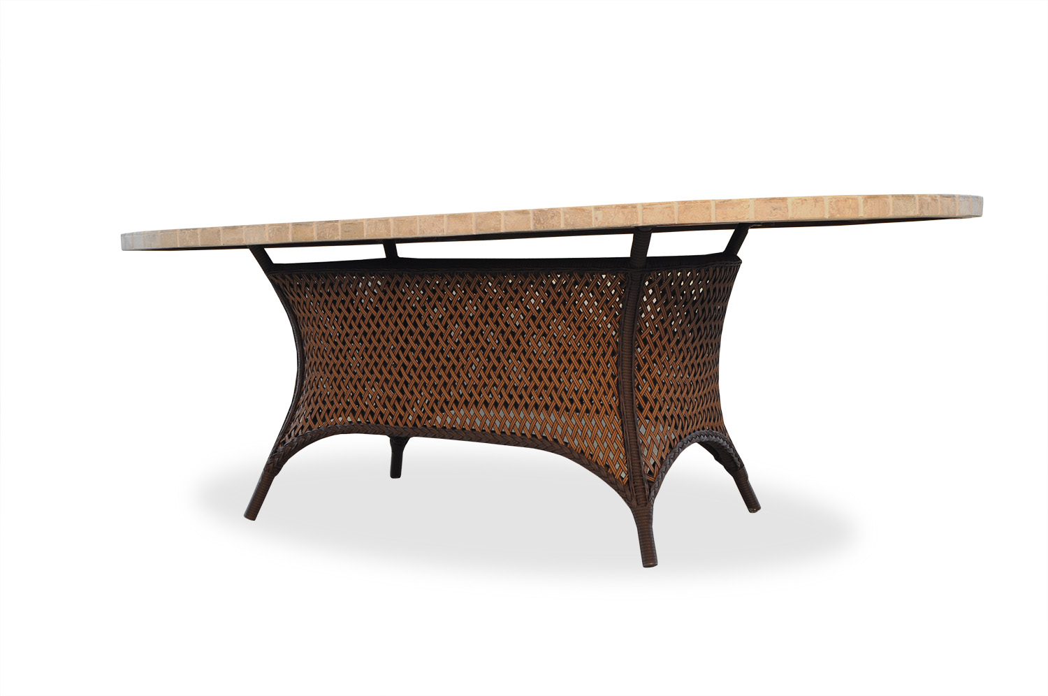 "Grand Traverse 84"" Oval Umbrella Dining Table"