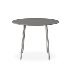 "Elevation 24"" Round End Table with Light Gray Corian Top"