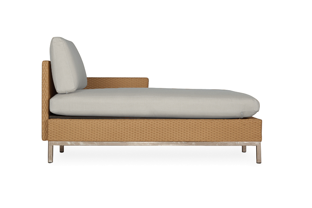Elements Left Arm Chaise with Loom Arm and Back