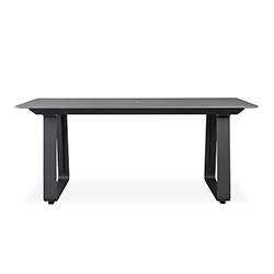 "Accessories 71"" Rectangular Umbrella Dining Table"
