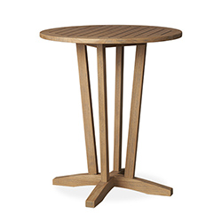 "Teak 30"" Round Balcony Table"