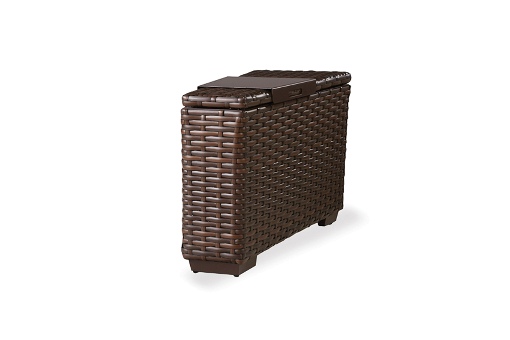 Contempo Wedge Table with Hinged Woven Top