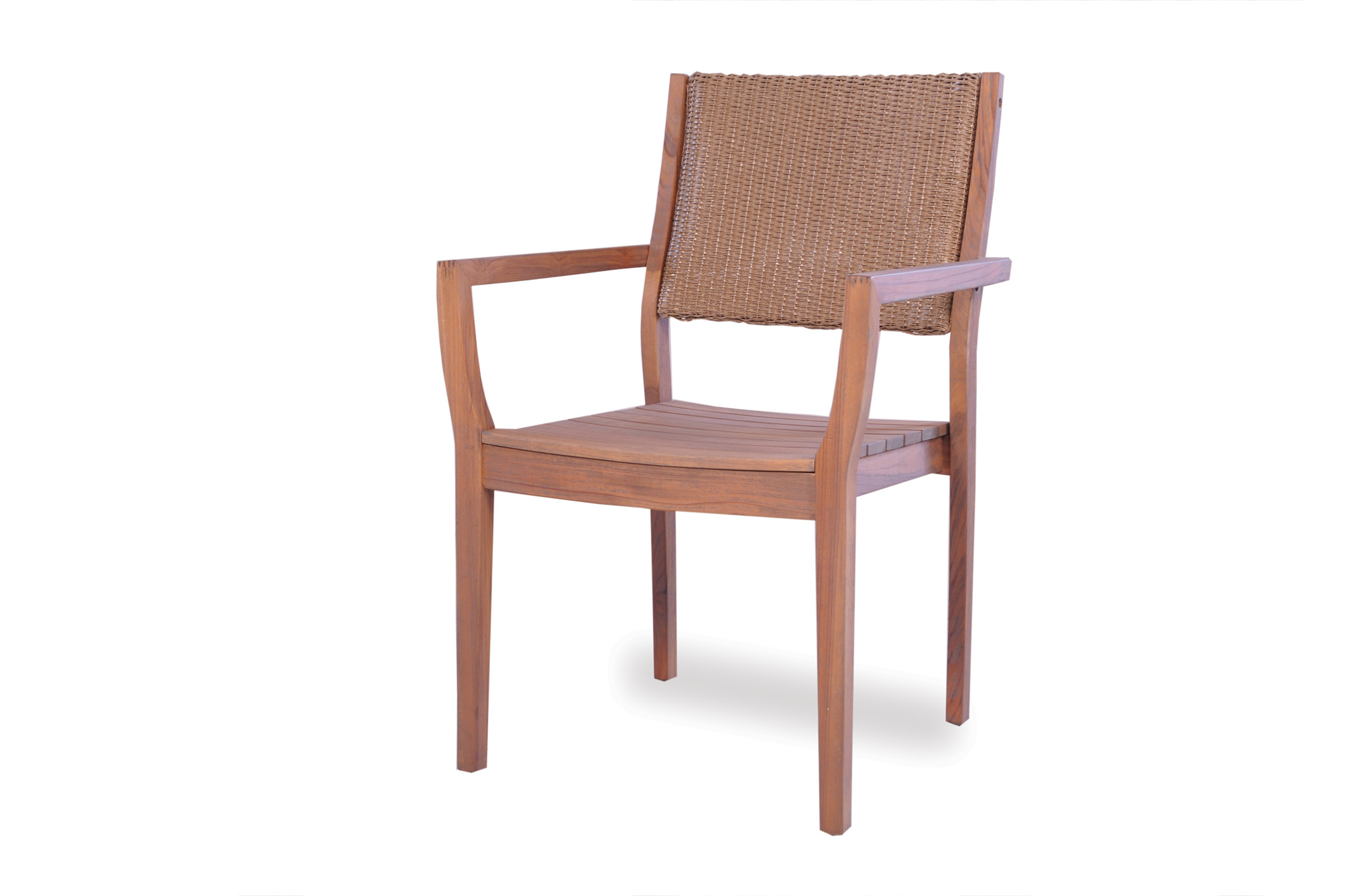 Loom -Back Teak Dining Chair