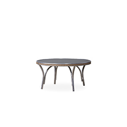 "All Seasons 33"" Round Cocktail Table with Charcoal Glass"