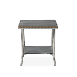 "Visions 20"" Square End Table with Charcoal Glass"