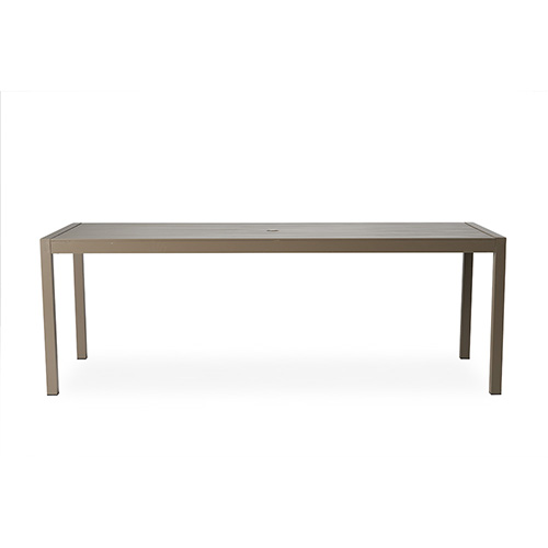 "Milan 87"" Rectangular Umbrella Dining Table"