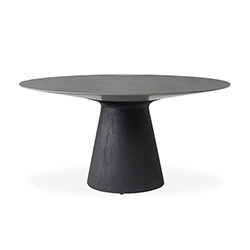 "Accessories 59"" Round Pedestal Dining Table"