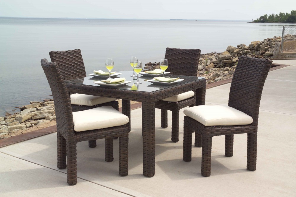 Collection Lloyd Flanders Premium Outdoor Furniture In All Weather Wicker Woven Vinyl And Teak